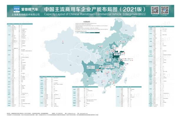 中國主流商用車企業產能布局圖